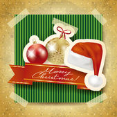 Christmas background with Santa's hat — Stock Vector