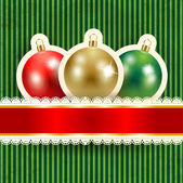 Christmas background with baubles — Stock Vector