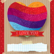 Valentine card with stunning heart — Stock Vector #63405037