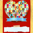 Valentine card with stunning heart — Stockvector  #63405061