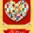 Valentine card with stunning heart — Stockvector  #63405071