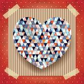 Heart, valentine card — Vector de stock