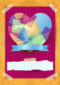 Valentine card with stunning heart — Stock Vector