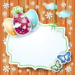 Easter card with label — Stock Vector #67868045