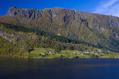 Jezero granvin vatne, norsko — Stock fotografie