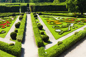 Flower garden of Kromeriz Palace, Czech Republic — Stock Photo