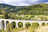 Railway viaduct Novina, Krystofovo Valley, Czech Republic — Stock Photo