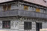 Timbered house in Cicmany, Slovakia — Stock Photo