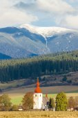 Fortified church in Liptovske Matiasovce, Slovakia — Stock Photo