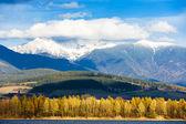 Liptovska Mara with Western Tatras at background, Slovakia — Stock Photo