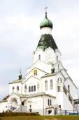 Newly built Orthodox church, Medzilaborce, Slovakia — Stock Photo