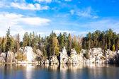 Piskovna lake, Teplice-Adrspach Rocks, Czech Republic — Stock Photo