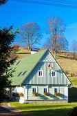 Green cottage, Czech Republic — Stock Photo