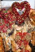 Portrait of woman at Christmas market, Vienna, Austria — ストック写真