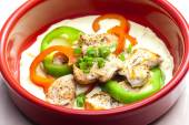 Turkey meat stewed with peppers — Stock Photo