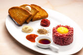 Sirloin steak tartare — Photo