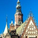 Town Hall on Main Market Square, Wroclaw, Silesia, Poland — Stock Photo #56299721