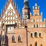 Town Hall on Main Market Square, Wroclaw, Silesia, Poland — Stock Photo #56299733