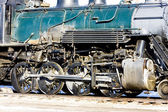 Detail of steam locomotive, Alamosa, Colorado, USA — Stock Photo