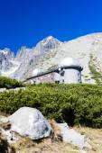 Observatory at Rock Tarn (Skalnate pleso), Vysoke Tatry (High Ta — Stock Photo