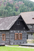 Timbered house in Cicmany — Stock Photo