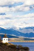Liptovska Mara with Western Tatras at background, Slovakia — Stok fotoğraf