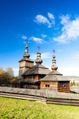 Wooden church, Museum of Ukrainian village — Stock Photo