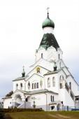 Newly built Orthodox church, Medzilaborce, Slovakia — Stockfoto