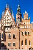 Town Hall on Main Market Square, Wroclaw, Silesia, Poland — Stock Photo