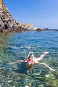Plongée en apnée en mer Méditerranée, france — Photo