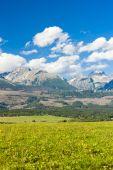 Western part of Vysoke Tatry (High Tatras), Slovakia — Stock Photo