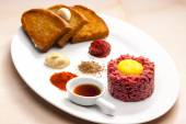Sirloin steak tartare — Foto Stock