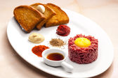 Sirloin steak tartare — Foto de Stock
