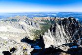 View to Belianske Tatras from Lomnicky Peak, Slovakia — Stock Photo