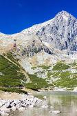 Lomnicky Peak and Skalnate Tarn, Vysoke Tatry (High Tatras), Slo — Stock Photo