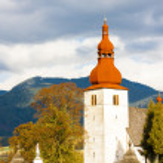 Fortified church in Liptovske Matiasovce — Stock Photo #58584263