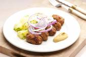 Fritters of minced meat — Stock Photo