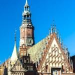 Town Hall on Main Market Square, Wroclaw, Silesia, Poland — Stock Photo #61107087