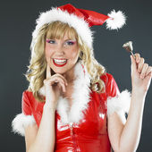 Santa Claus with a bell — Stock Photo
