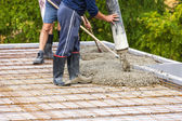 Construction of a house — Stock Photo