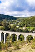 Railway viaduct Novina, Krystofovo Valley — Stock Photo