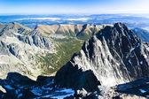 View from Lomnicky Peak, Vysoke Tatry (High Tatras) — Stock Photo