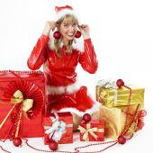 Père Noël avec les cadeaux de Noël — Photo