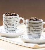 Coffee cups full of coffee beans — Foto de Stock