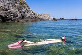 Snorkeling in Mediterranean Sea, France — Stock Photo