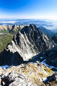 View from Lomnicky Peak, Vysoke Tatry (High Tatras) — Foto de Stock