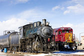 Locomotives at railway station of Alamosa, Colorado, USA — Stock Photo