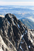 View from Lomnicky Peak, Vysoke Tatry (High Tatras), Slovakia — Stock Photo