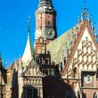 Town Hall on Main Market Square, Wroclaw — Stock Photo #65242195
