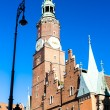 Town Hall on Main Market Square, Wroclaw — Stock Photo #65242893